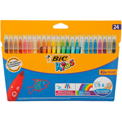 Bic Kids Kid Couleur Felt Tip Colouring Pens Medium Point - Assorted Colours, Pack Of 24
