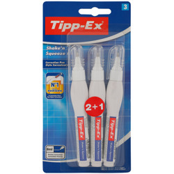 Tipp-Ex Shake''''N Squeeze Correction Pens - 8 Ml, Pack Of 2+1