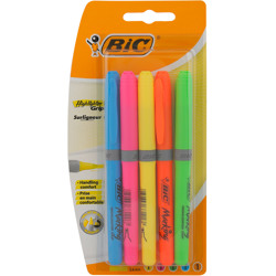 Bic Highlighter Brite Liner Grip Blister Assorted (5 Pcs)