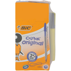 Bic Cristal Medium Box 50 + Highlighter Blister 1