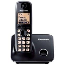 Panasonic KX-TG3611 Cordless Telephone, 19cm - Black