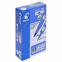 Pilot SCA-TM Twin Marker Pen - Blue