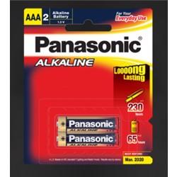 Panasonic LR03T/2B Alkaline AAA-Size Battery