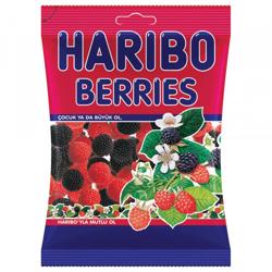 Haribo Colored Raspberry & Blackberry - 1Kg