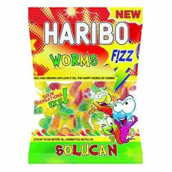Haribo Fizz Worm - 1 Kg