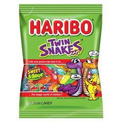 Haribo Twin Snakes - 80G (6x24)