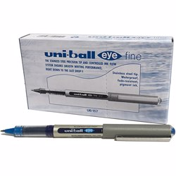 Uni-Ball EYE UB-157 Roller Ball Pen Blue (Pack of 12 Pcs)