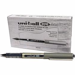 Uni-Ball EYE UB-157 Roller Ball Pen Black (Pack of 12 Pcs)
