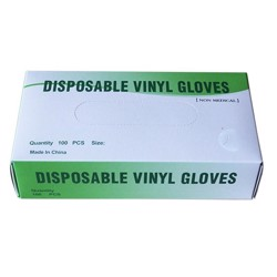 Disposable Vinyl Gloves Large White/Neutral 100 Pcs/Box Powder Free