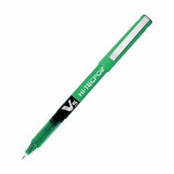 Pilot Hi-Tecpoint V5 Pen, Green (Pack of 12)