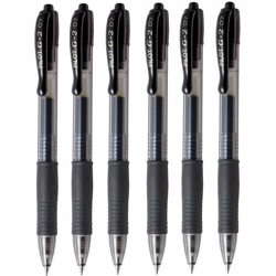 Pilot G2 07 Black Fine Retractable Gel Ink Pen (Pack of 12)
