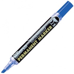 Pentel NLF60 Maxiflo Chisel Tip Permanent Marker, Blue (Pack of 12)