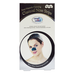 Cool & Cool Charcoal Nose Strips - 6's