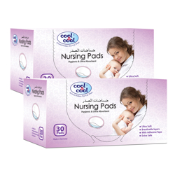 Cool & Cool Nursing Pads Hygienic - 30 Counts