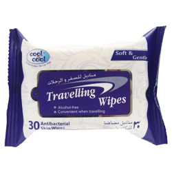 Cool & Cool Travelling Wipes - 30'S