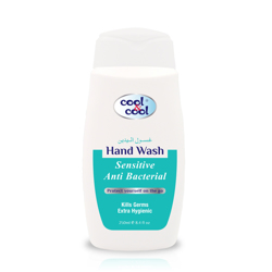 Cool & Cool Sensitive Anti-Bacterial Hand Wash - 250ml