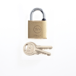 Yale 15-0110-3016-00-0201 110 Series Brass Padlock 30MM - Brass