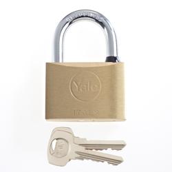 Yale 15-0110-6032-00-0201 110 Series Brass Padlock 60MM - Brass