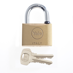 Yale 15-0110-7037-00-0201 110 Series Brass Padlock 70MM - Brass