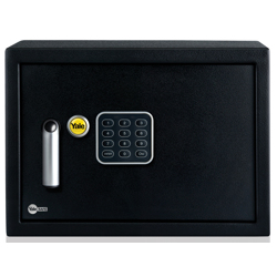 Yale YSV/250/DB1 Value Compact Safe,Steel Construction, Emergency Over ride Key, 16.3 Liter Capacity -Black