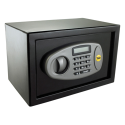 Yale Y-MS0000NFP Medium Digital Safe, Steel Construction, LCD Display, Emergency Override Key, 16 Litre Capacity - Black preview