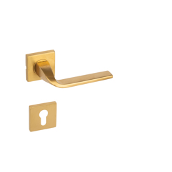 Yale Decorative Stainless Steel AISI 304 Door Handle and Rosette Set, Laura Design - Gold Finish