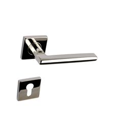 Yale Decorative Stainless Steel AISI 304 Door Handle and Rosette Set, Martina Design - Polished Steel Finish