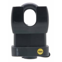 Yale Y221/61/130/1 Weatherproof Closed Shackle Padlock, 61mm, Pack of 1 - Black
