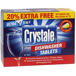 Crystale Dishwasher Tablets - 18s