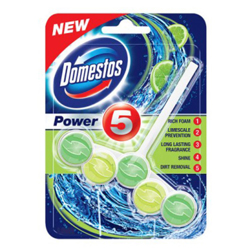 Domestos Power 5 Rimblock Lime - 55gm