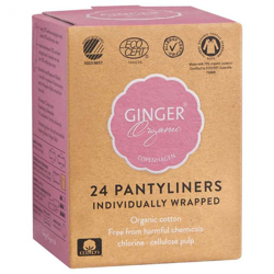 Ginger Organic Pantyliner Individually Wrapped (1x24pcs)