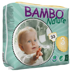 Bambo Nature Eco-Friendly Diapers, Size 3, 5-9 kg (33 diapers)