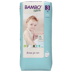 Bambo Nature Eco-Friendly Diapers, Size 3, 4-8kg (52 diapers) Tall Pack