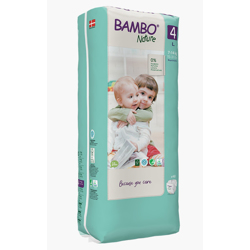 Bambo Nature Eco-Friendly Diaper Size 4, 7-14kg (48 diapers )Tall pack
