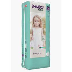 Bambo Nature Eco-Friendly Diaper Size 5, 12-18kg,(44 diapers) Tall Pack
