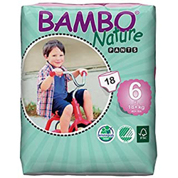 Bambo Nature Eco-Friendly Pants Diapers, Size 6, 18+kg (18 pants)