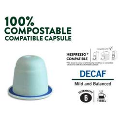 Boncafe 100% Compostable Nespresso Compatible Coffee Capsules - Decaf (180 Capsules)