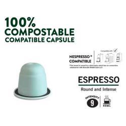 Boncafe 100% Compostable Nespresso Compatible Coffee Capsules - Espresso (180 Capsules) preview