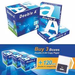 Double A A4 (3 Box + 120 PCs L Shaped File) Bundle Offer