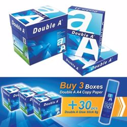 Double A A4 (3 Box + 30 PCs Glue Stick 8g) Bundle Offer