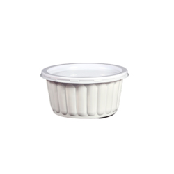 Hotpack Corrugated PP Bowl 250ml White + Lid -1000Pcs