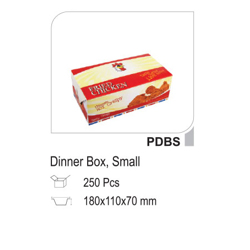 Hotpack Paper Dinner Box Small 17.8x10.8cm-250Pc