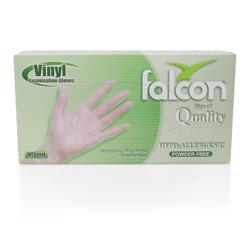 Falcon Vinyl Gloves Medium Clear 100 Pcs/Box Powder Free