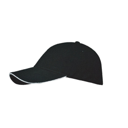 Santhome Nufit Caps - Black With White