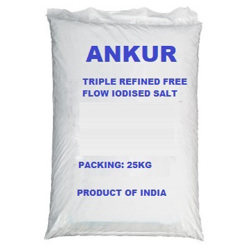 Ankur Triple Refined Free Flow Iodized Salt - 25kg