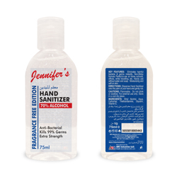 Jennifer's Sanitizer 75ml - Aqua