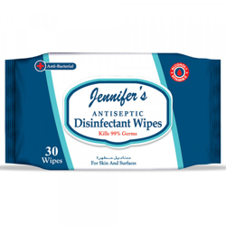 Jennifer's Antiseptic Disinfectant Wipes - 30 sheets