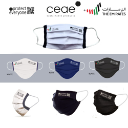 Ceae 100% Organic Product Cotton Reusable Cloth Face Mask - Navy (10pcs/Box)