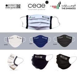 Ceae 100% Organic Product Cotton Reusable Cloth Face Mask - Navy (2pcs/Box)