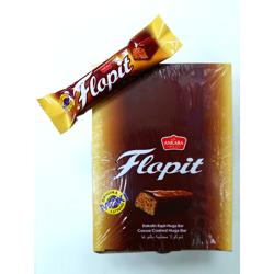 Ankara Flopit Cocoa Coated Nuga Bar - 33gm (Pack Of 24)